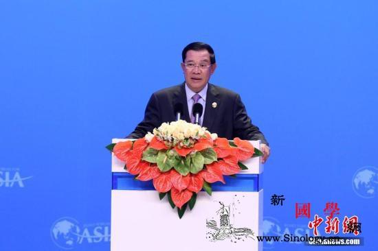 外媒称首相染病洪森现身国会谣言自破_博鳌-柬埔寨-肺炎-