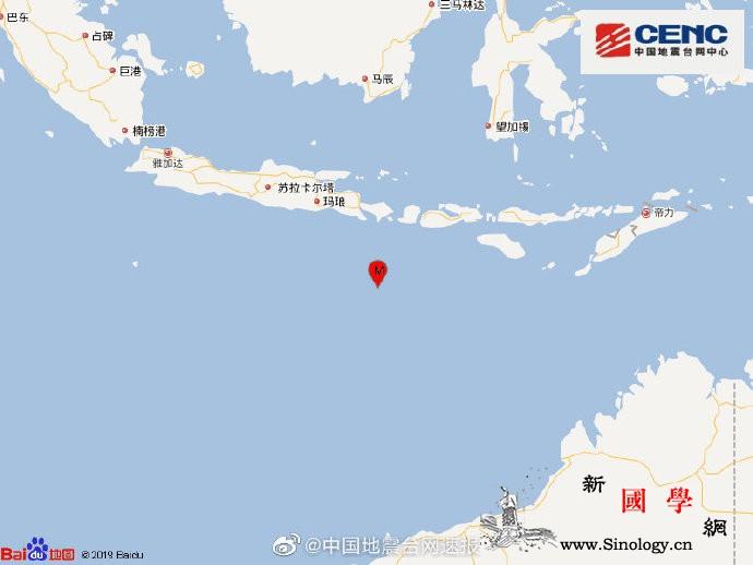 印尼巴厘岛以南海域发生6.2级地震震_印尼-震源-画中画-