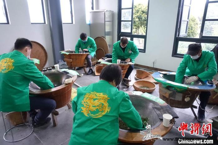 杭州举办西湖龙井茶炒茶王大赛32位炒_龙井-西湖-龙井茶-