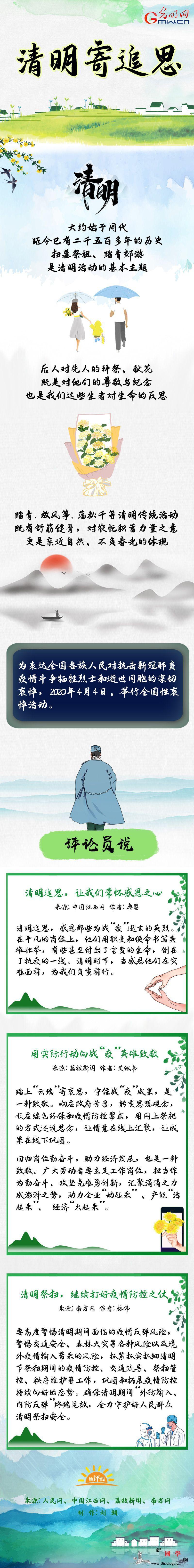 清明寄追思_画中画-追思-清明-
