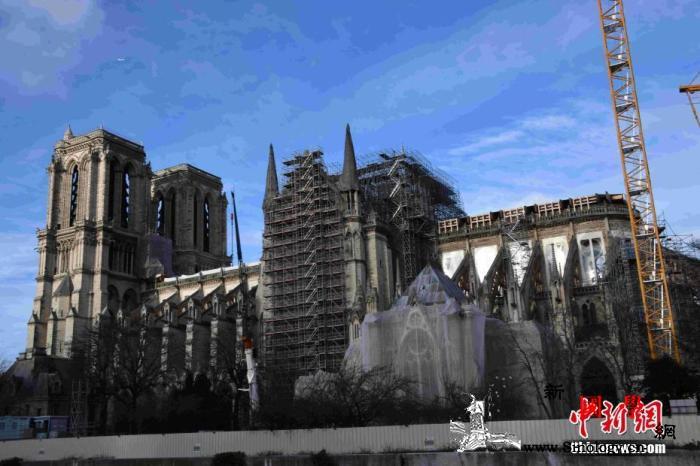 巴黎圣母院大火临近一周年修复工程因疫_巴黎-疫情-修复-