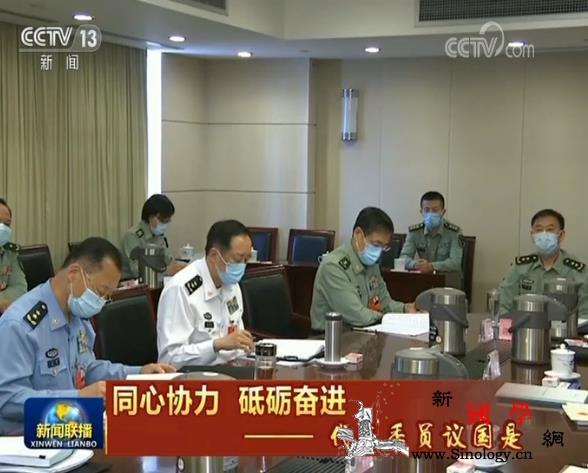 解放军和武警部队代表团继续分组审议政_武警部队-党中央-画中画-