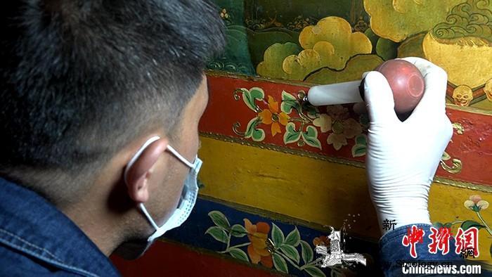 西藏罗布林卡系统壁画修复已完成60%_罗布林卡-敦煌-西藏-壁画-