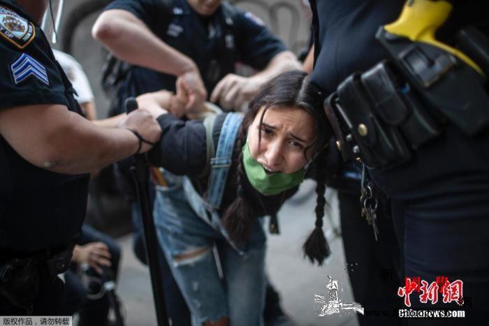 俄记者遭美警察催泪瓦斯袭击俄外交部:_俄罗斯-示威-美国政府-