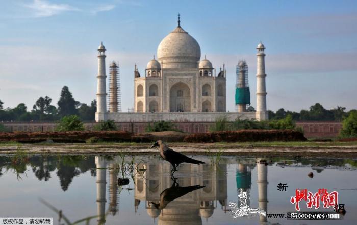 印度泰姬陵遭雷暴重击部分建筑损毁_雷暴-画中画-印度-