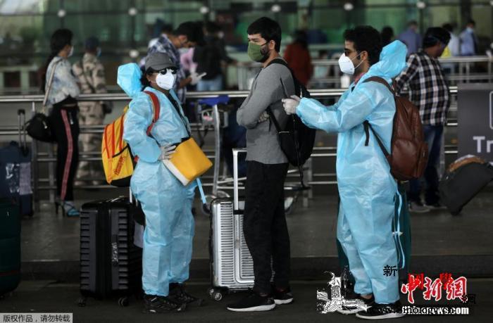 印度成全球第7个总病例超20万例国家_孟买-例数-防护服-