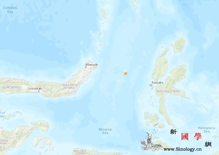 印尼东北部附近海域发生5级地震震源深_印尼-美国-海域-