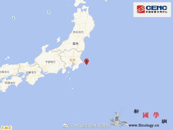 日本本州东岸近海发生5.9级地震震源_台网-震源-画中画-
