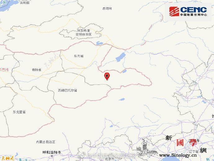 蒙古国发生5.2级地震震源深度10千_台网-震源-画中画-