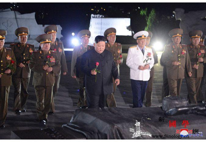金正恩凭吊朝鲜战争烈士_解放战争-朝鲜-画中画-