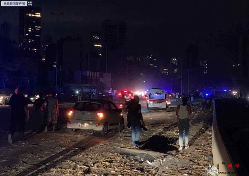 黎巴嫩大爆炸现场一片狼藉大火仍未扑灭_黎巴嫩-画中画-已被-