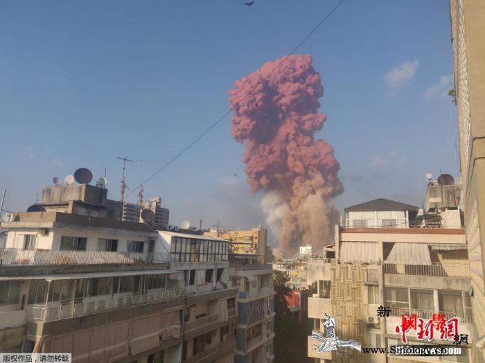 以色列否认对黎巴嫩爆炸负责:我们与此_贝鲁特-黎巴嫩-云和-