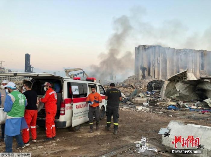 """黎巴嫩总统称将对爆炸事故展开调查""""严_贝鲁特-法新社-黎巴嫩- ()"""