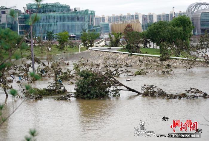 受灾规模持续扩大韩政府将7个市郡划为_汉江-韩国-灾区-