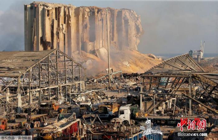 外媒:贝鲁特港化学品集装箱出现泄漏或_贝鲁特-黎巴嫩-集装箱-