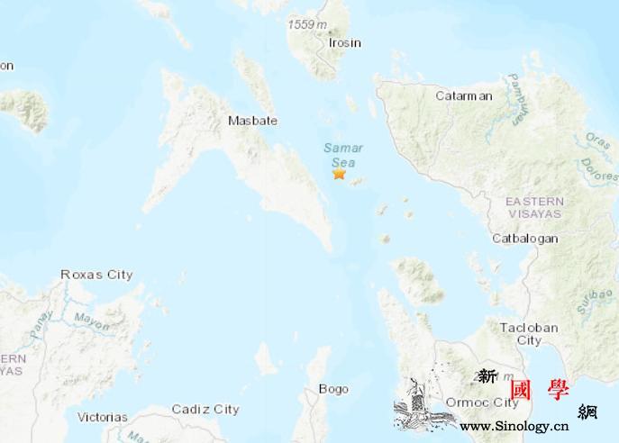 菲律宾附近海域发生6.7级地震震源深_菲律宾-震源-美国-