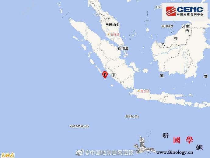 印尼苏门答腊岛南部海域发生7.0级地_苏门答腊-印尼-台网-