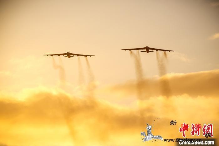 美军6架B-52轰炸机飞抵欧洲进行联_北约-司令部-飞抵-