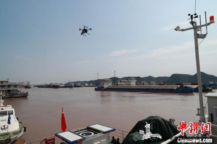 长江海事部门开展三峡重点水域智能巡航_无人机-长江-巡航-