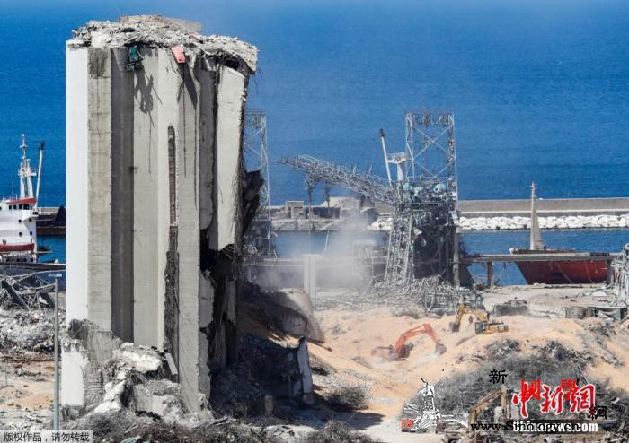 完成清理工作黎巴嫩贝鲁特港口恢复10_贝鲁特-黎巴嫩-盼盼-