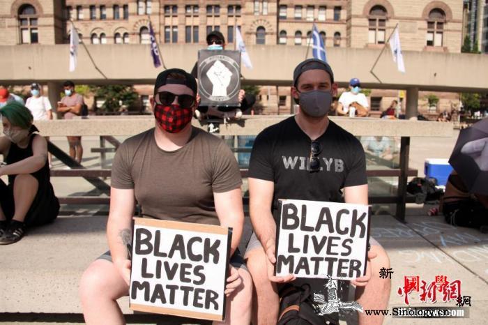 加拿大多地示威反对种族歧视和警察暴力_示威者-集会-示威-