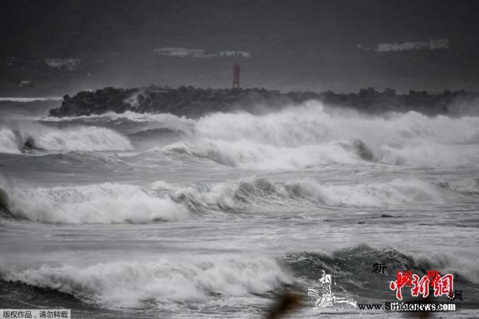 """台风""""海神""""登陆韩国境内各地区均已发_釜山-韩国-海神-"""
