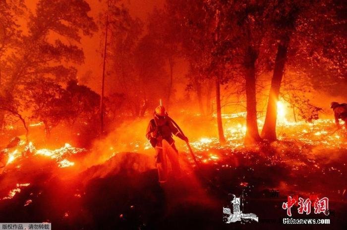史无前例!美西部三州约40场大火延烧_俄勒冈州-加利福尼亚州-加州-