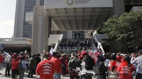 南非发生有史以来最大规模全国性大罢工_开普敦-南非-约翰内斯堡-
