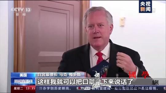 美白宫幕僚长拒绝戴口罩接受采访:我是_口罩-白宫-戴着-