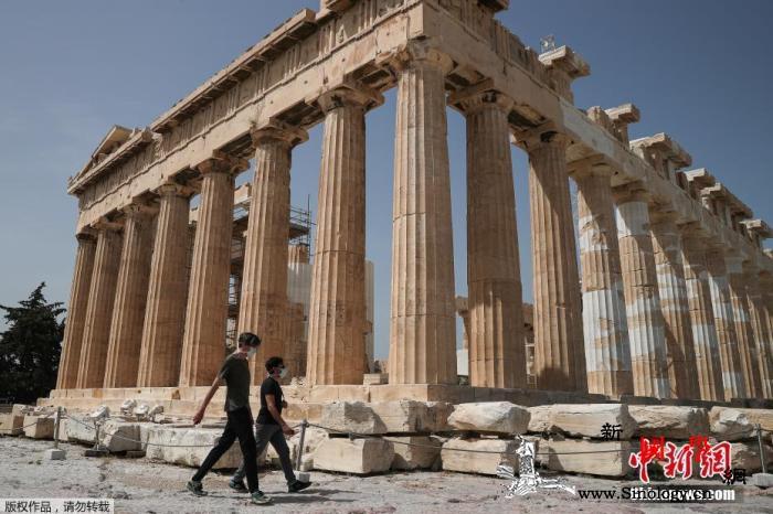 希腊多地实施口罩强制令年轻人成主要被_雅典-希腊-口罩-
