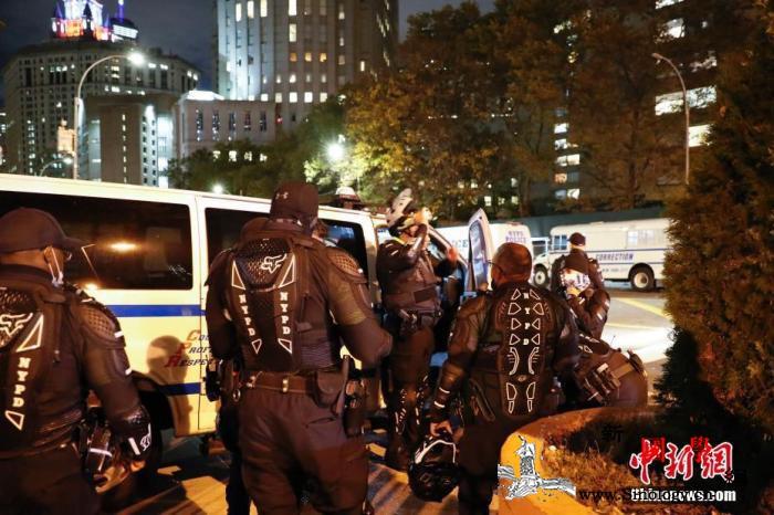 美国大选选举日白宫北门外发生抗议活动_纽约市-选举日-北门-