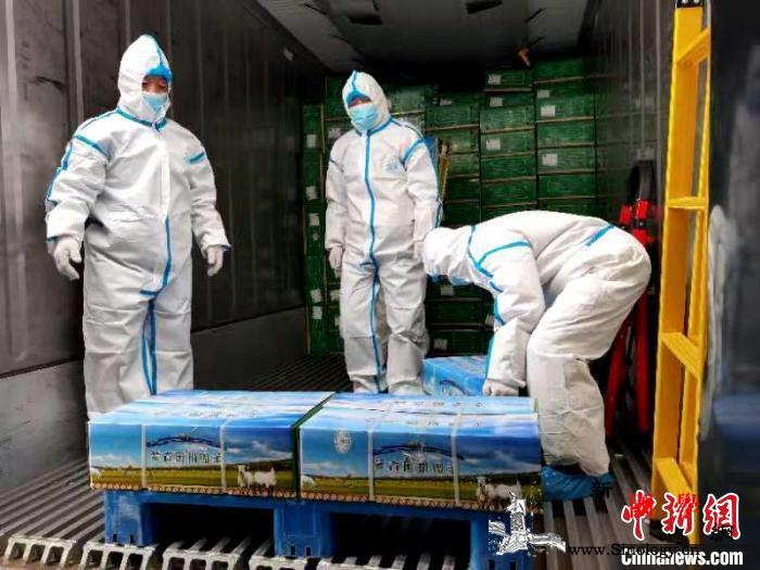 蒙古国捐赠中国首批12000只羊启征_浩特-装车-湖北-