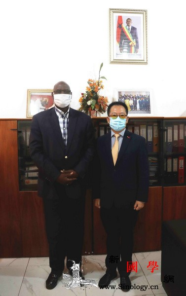 驻几内亚比绍大使郭策到任拜会几比财政_几内亚比绍-财政部-迪亚-长法-