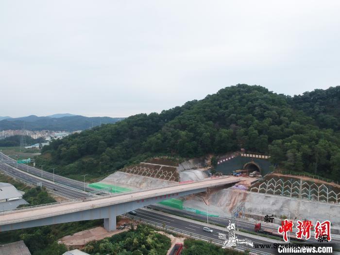珠三角城际铁路广佛东环线全线首个隧道_白云机场-贯通-隧道-