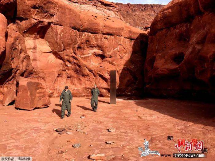 """美国发现巨型神秘金属块如科幻电影""""天_犹他州-巨石-红岩-"""