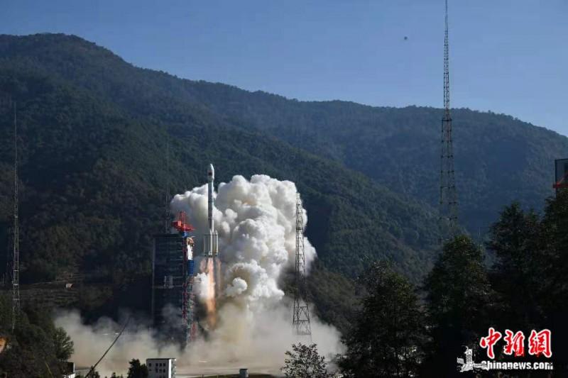 """中国成功发射高分十四号卫星将为""""一带_西昌-四号-射影-"""