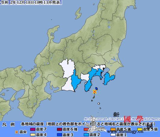 日本东京附近海域发生5.1级浅源地震_震感-震中-源地-