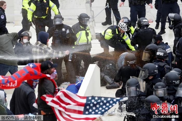 英法德等政要就美国会遭强攻发声:停止_华盛顿-美国-美国国会-
