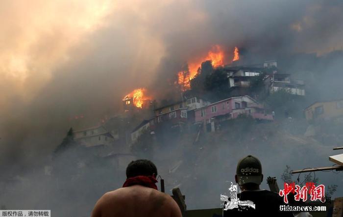智利国家林业局:全国37%森林火灾系_瓦尔-智利-火灾-