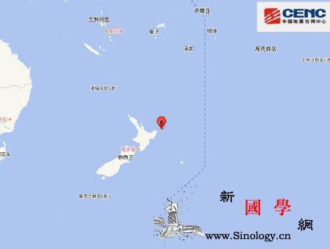 新西兰北岛东岸远海附近发生7.4级左_北岛-远海-台网-