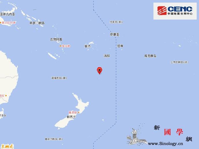 新西兰克马德克群岛发生6.1级地震震_台网-震源-群岛- ()