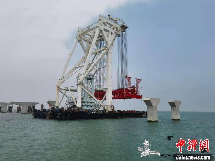广州海事部门保障深中通道架梁试验作业_海事-广州-船舶-