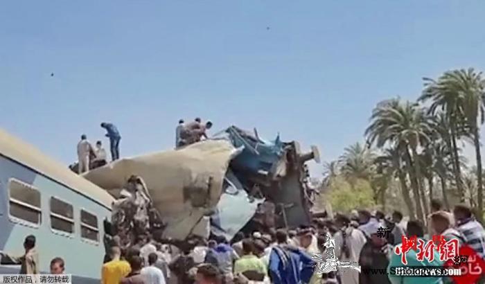 埃及两列车相撞致32死:疑有人拉下紧_开罗-埃及-相撞-