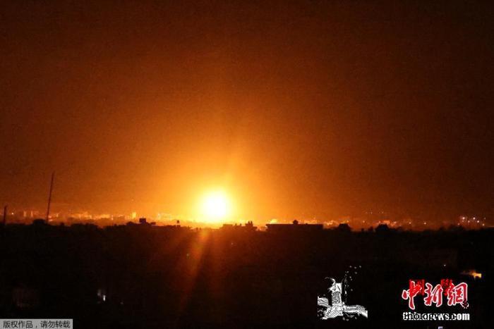 局势紧张!以色列48小时内第二次空袭_哈马斯-国防军-空袭-