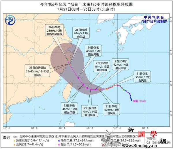"""台风""""烟花""""逐渐加强东海台湾海峡等海_风级-风圈-东海-"""
