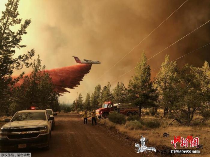 美国西部野火浓烟向东远飘灰色烟雾笼罩_俄勒冈州-国家气象局-野火-