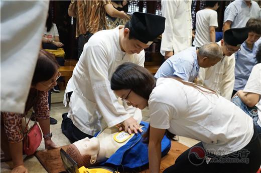 上海城隍庙开展场所急救培训