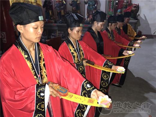 广西桂平市白石山三清观举行2018中秋拜月祈福法会