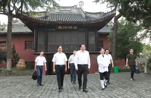 常州市委常委、统战部部长韩九云调研白龙观