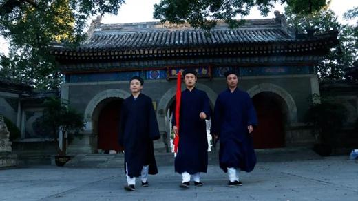 北京白云观隆重举行升国旗仪式